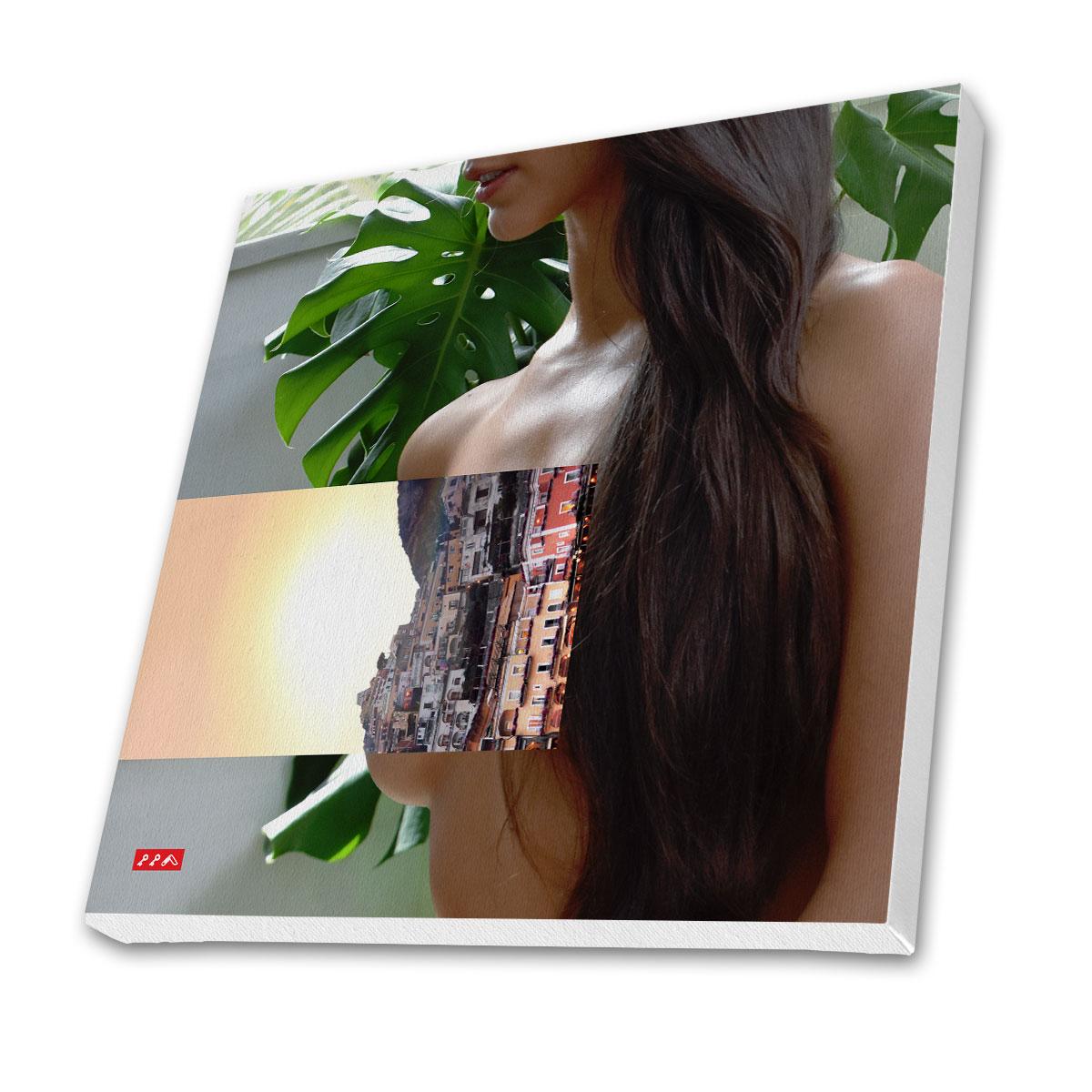 positaNO CLOTHES canvas prints