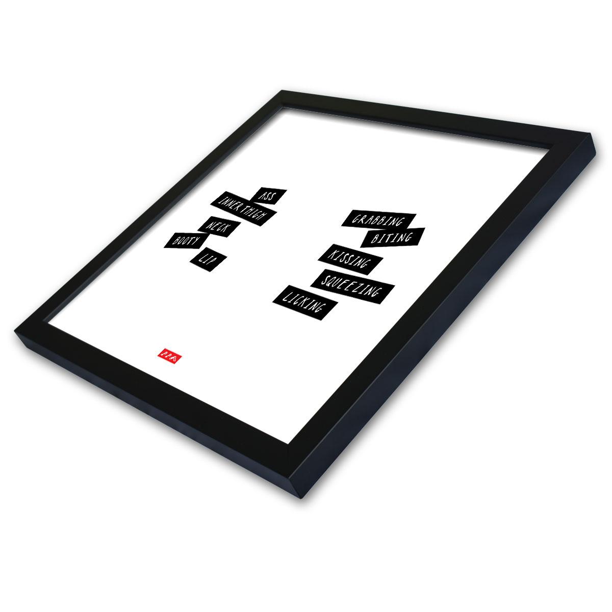 WORD PLAY framed print at kikicutt.com