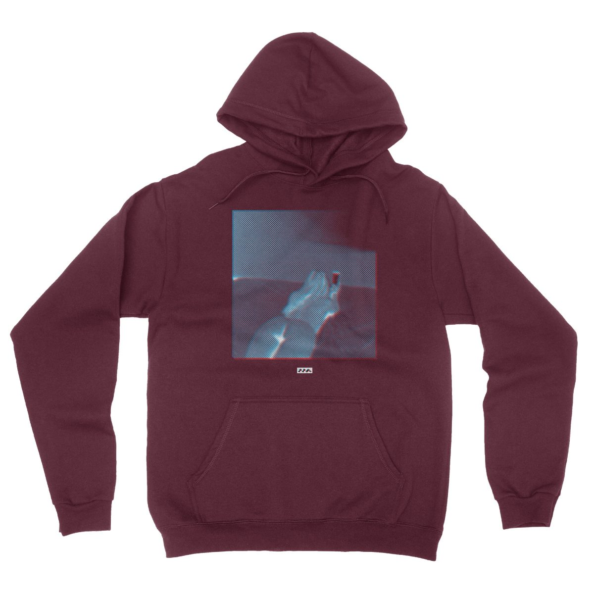 BOOTY CALL sexy girl with big ol booty graphic hoodie in maroon
