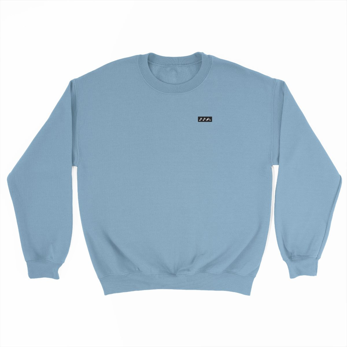 KIKICUTT black icon on a light blue really soft sweatshirt at kikicutt.com