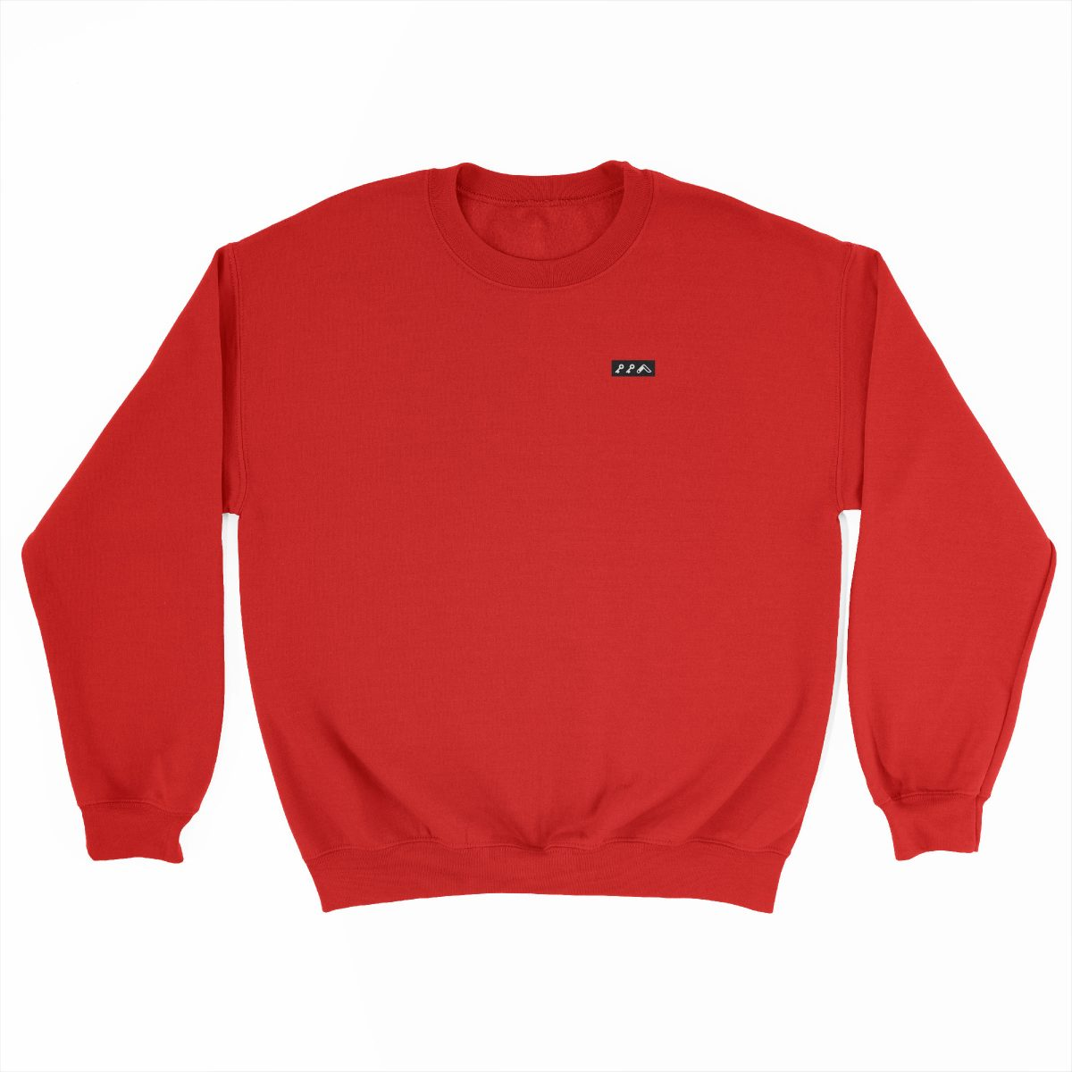 KIKICUTT black icon on a red really soft sweatshirt at kikicutt.com