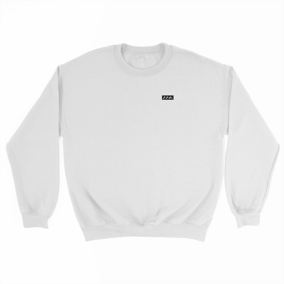 KIKICUTT black icon on a white really soft sweatshirt at kikicutt.com