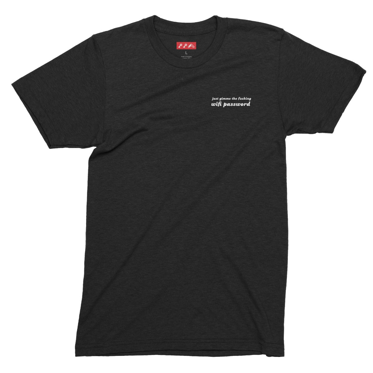 funny wifi passwords shirts for millennials in solid black tri-blend by kikicutt