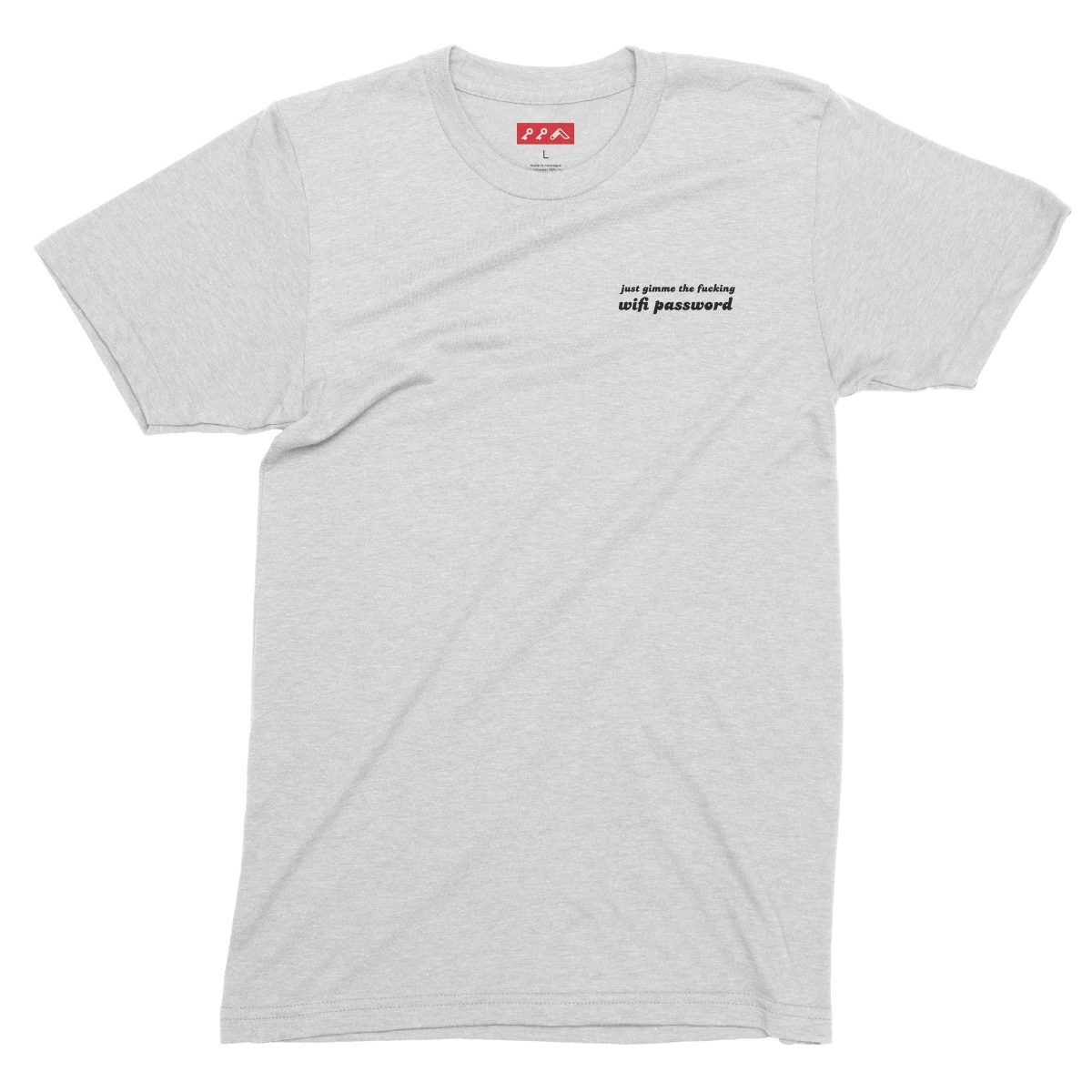 funny wifi passwords shirts for millennials in white fleck tri-blend by kikicutt