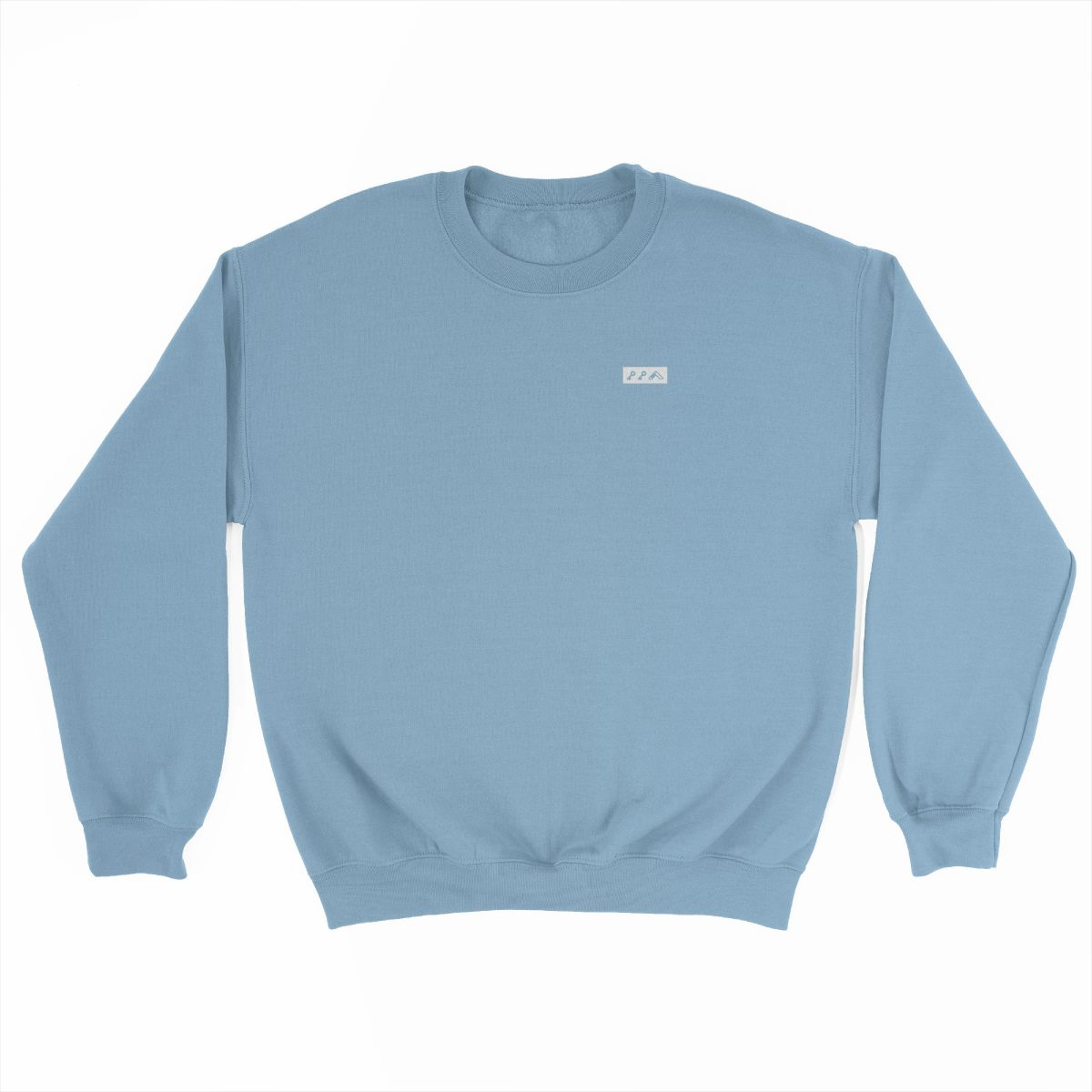 KIKICUTT white icon on a light blue comfy sweatshirt at kikicutt.com