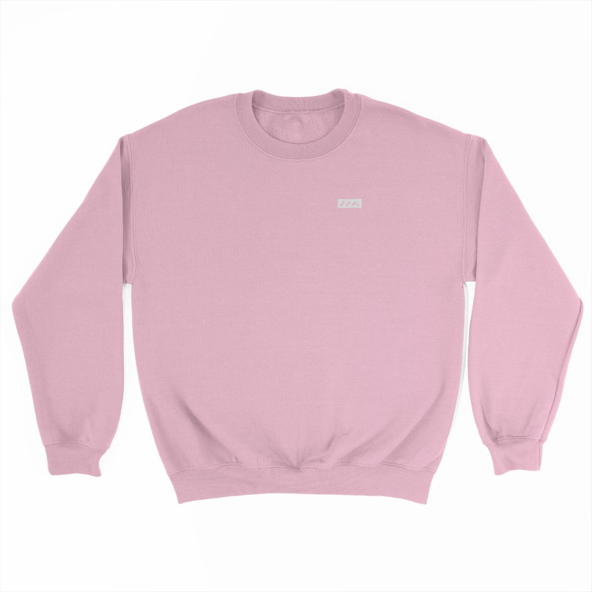 KIKICUTT white icon on a light pink comfy sweatshirt at kikicutt.com