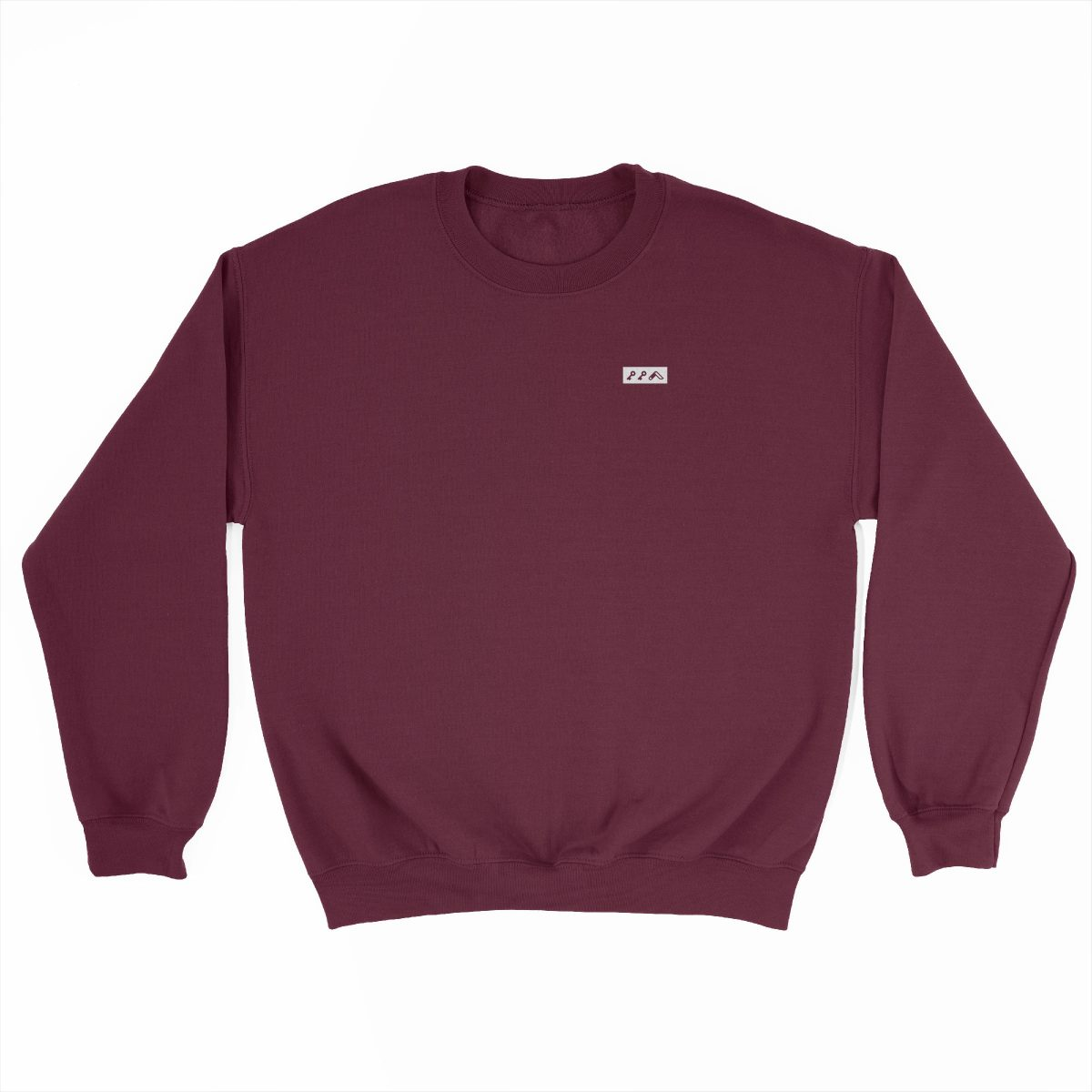 KIKICUTT white icon on a maroon super soft sweatshirt at kikicutt.com