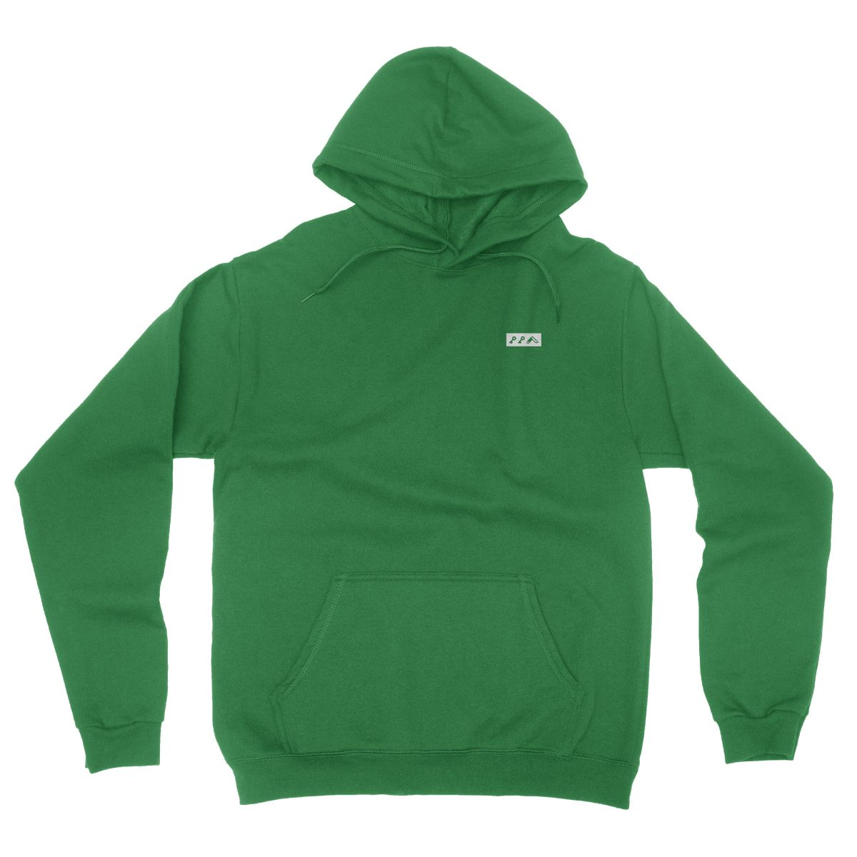 KIKICUTT white icon on an green classic and comfortable hoodie