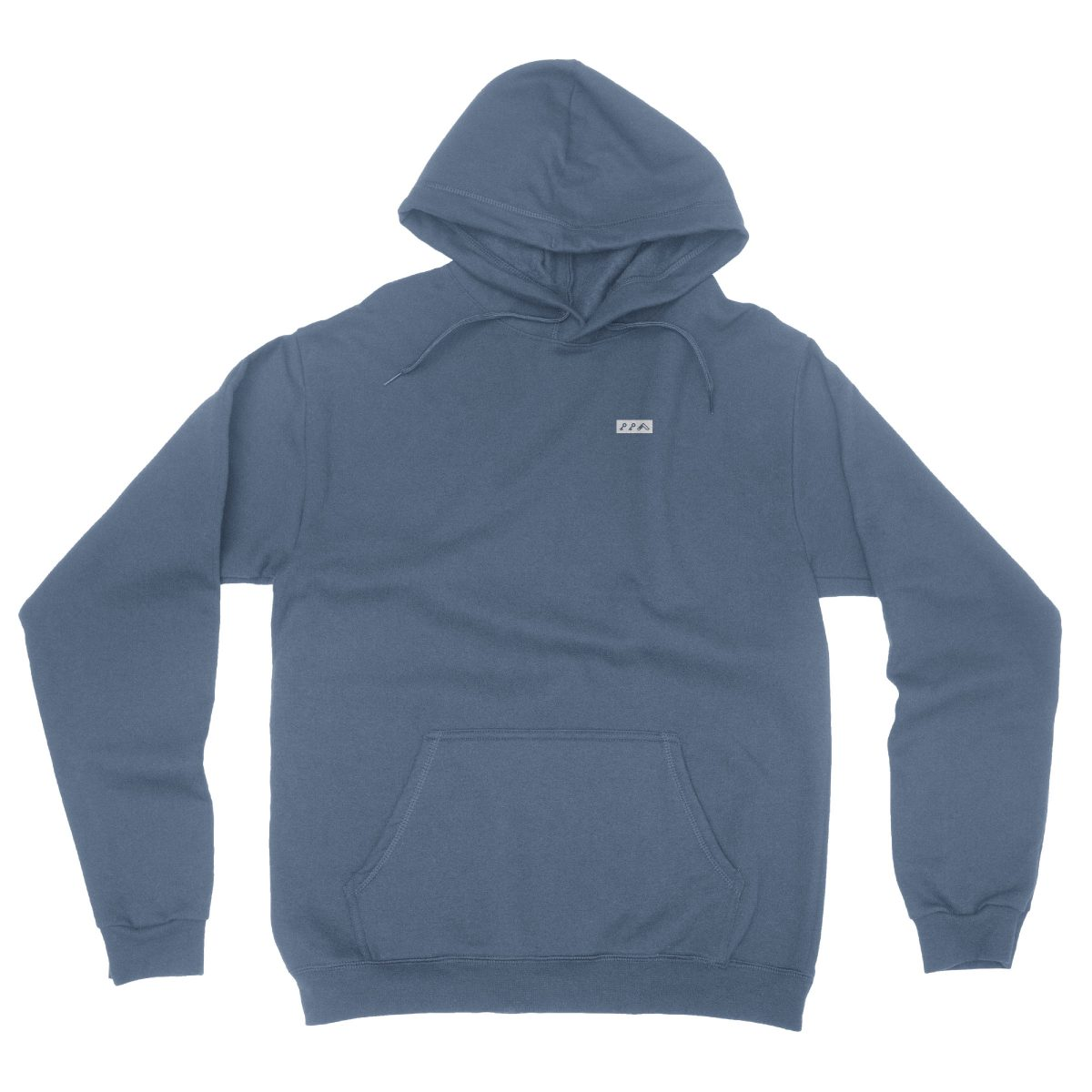 KIKICUTT white icon on an indigo classic and comfortable hoodie
