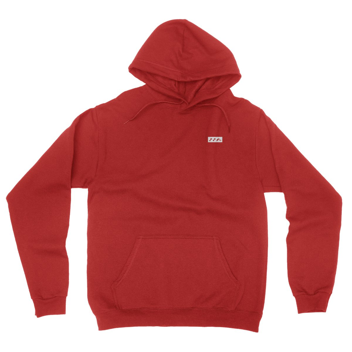 KIKICUTT white icon on an red classic and comfortable hoodie