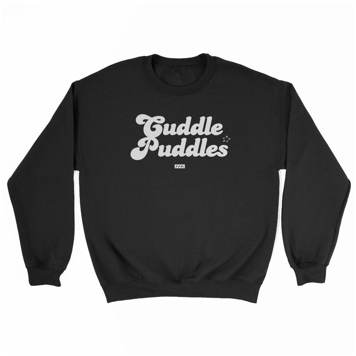 CUDDLE PUDDLE PARTY comfy sweatshirt in black at kikicutt.com