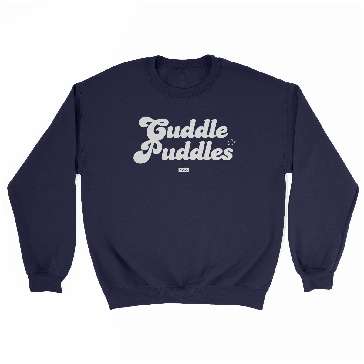 CUDDLE PUDDLE PARTY comfy sweatshirt in navy at kikicutt.com