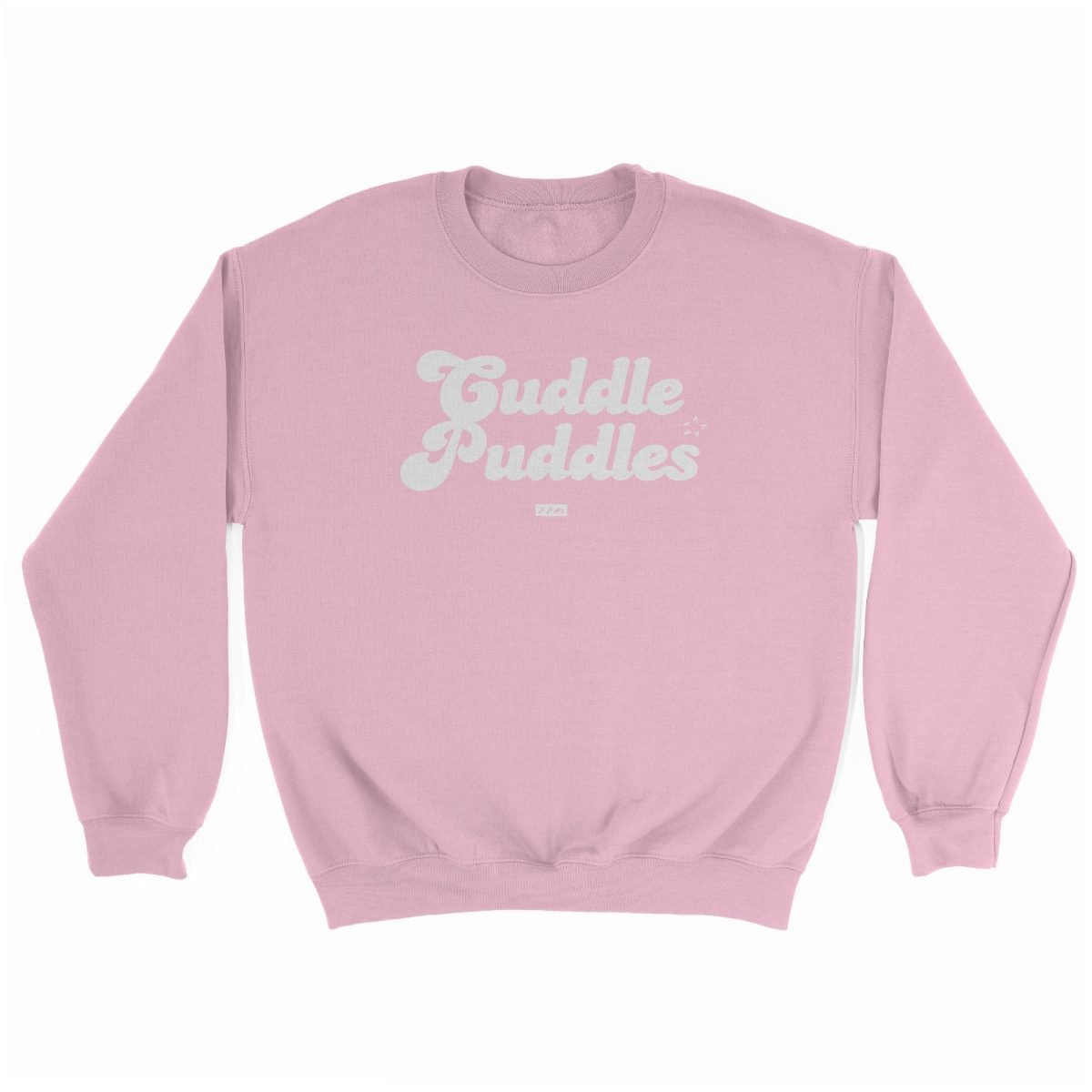 CUDDLE PUDDLE PARTY comfy sweatshirt in pink at kikicutt.com