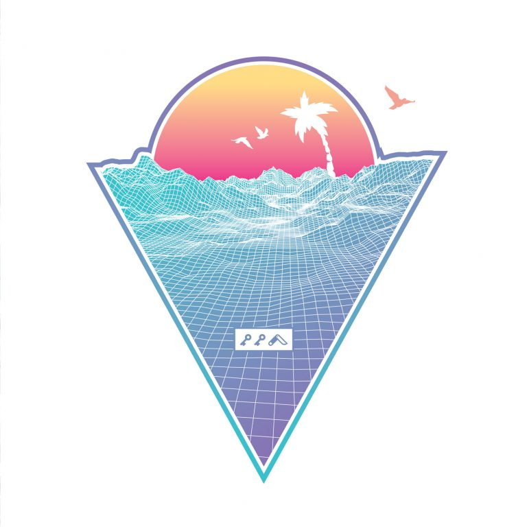 """OFF THE GRID"" cali vibes retro 80s design by kikicutt"
