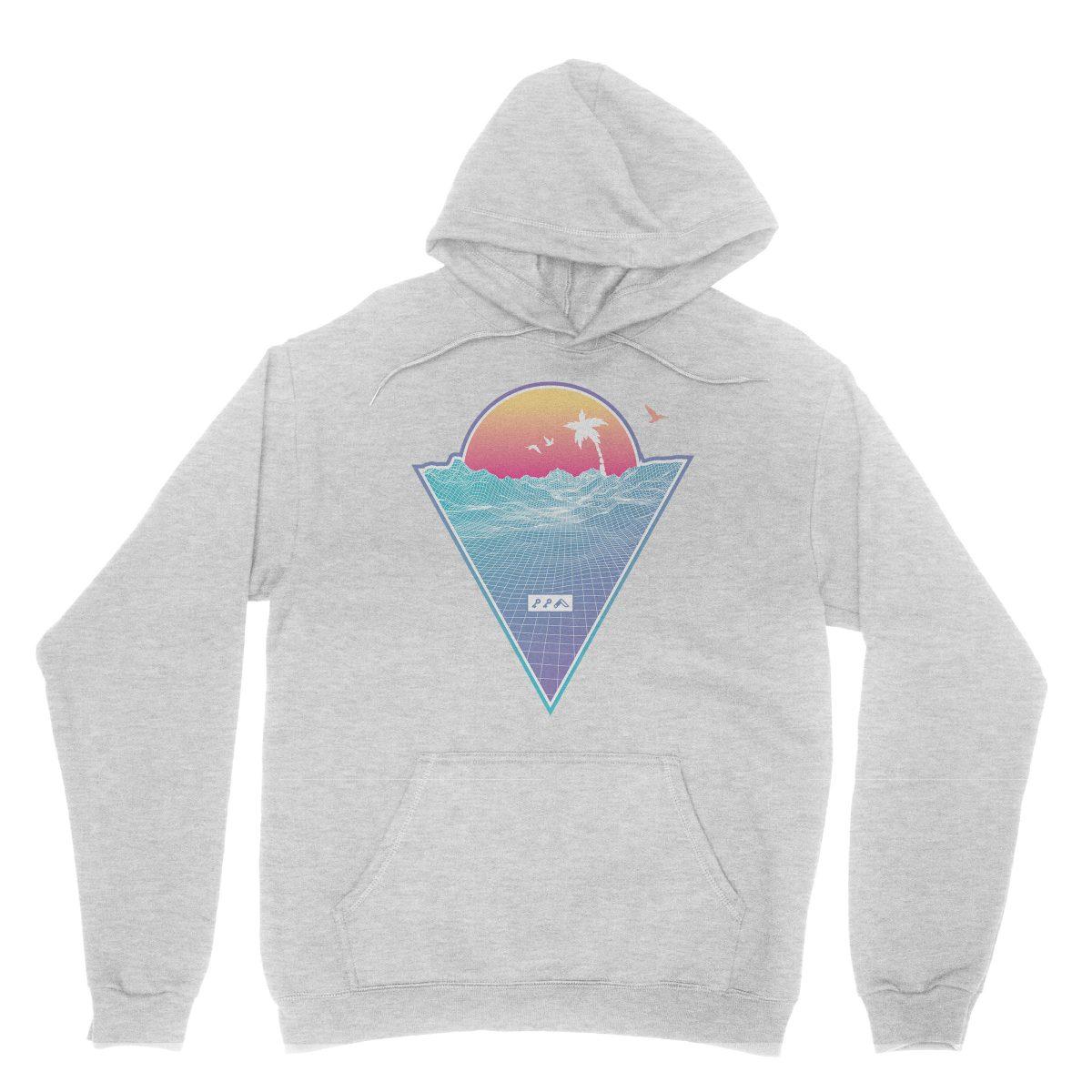 """OFF THE GRID"" cali vibes retro 80s design hoodie sweatshirts grey by kikicutt"