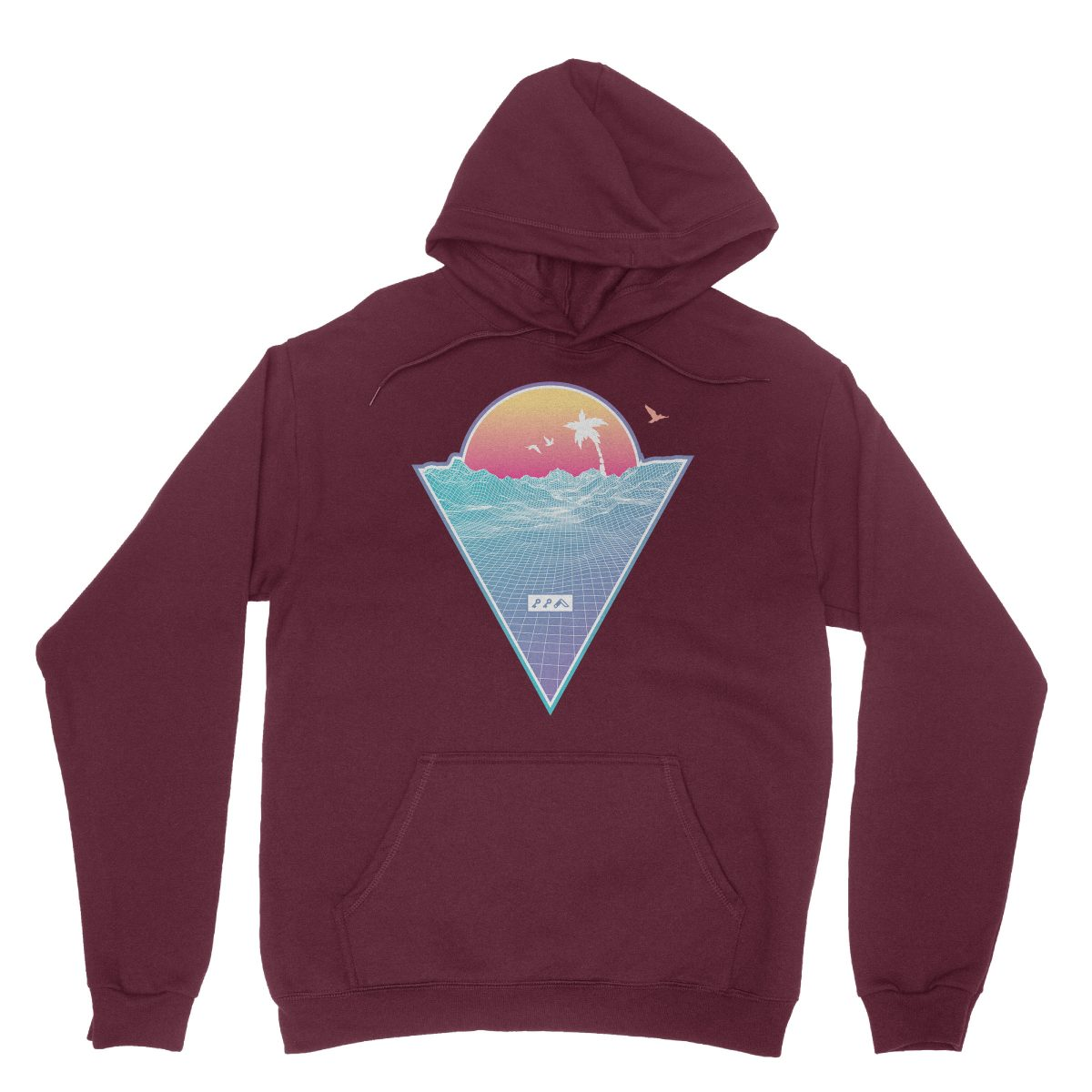 """OFF THE GRID"" cali vibes retro 80s design hoodie sweatshirts maroon by kikicutt"