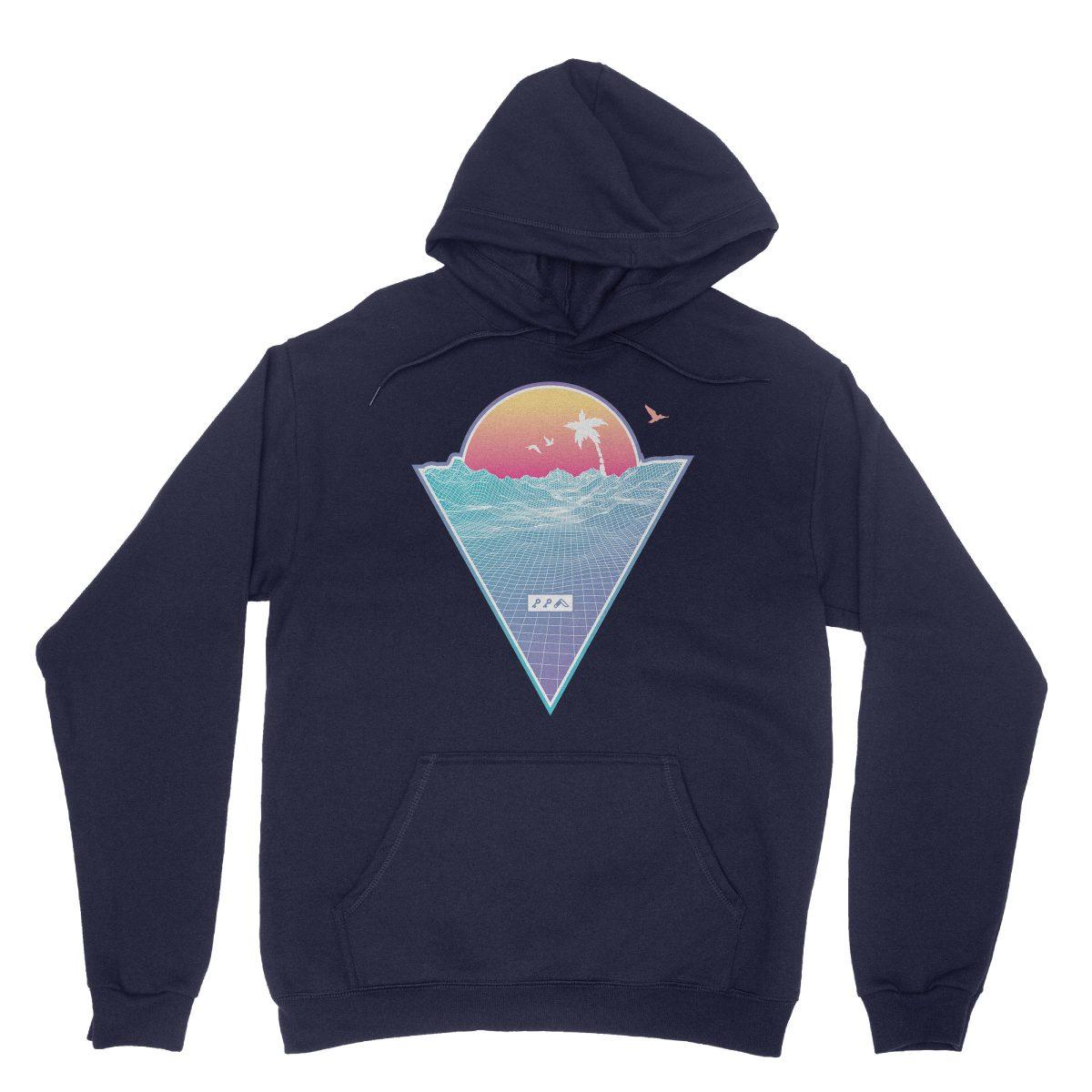 """OFF THE GRID"" cali vibes retro 80s design hoodie sweatshirts navy by kikicutt"