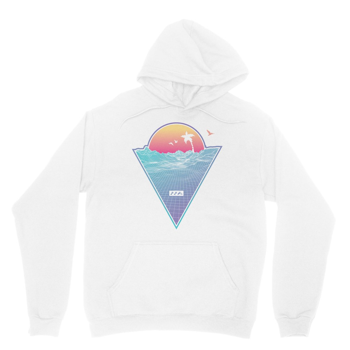 """OFF THE GRID"" cali vibes retro 80s design hoodie sweatshirts white by kikicutt"