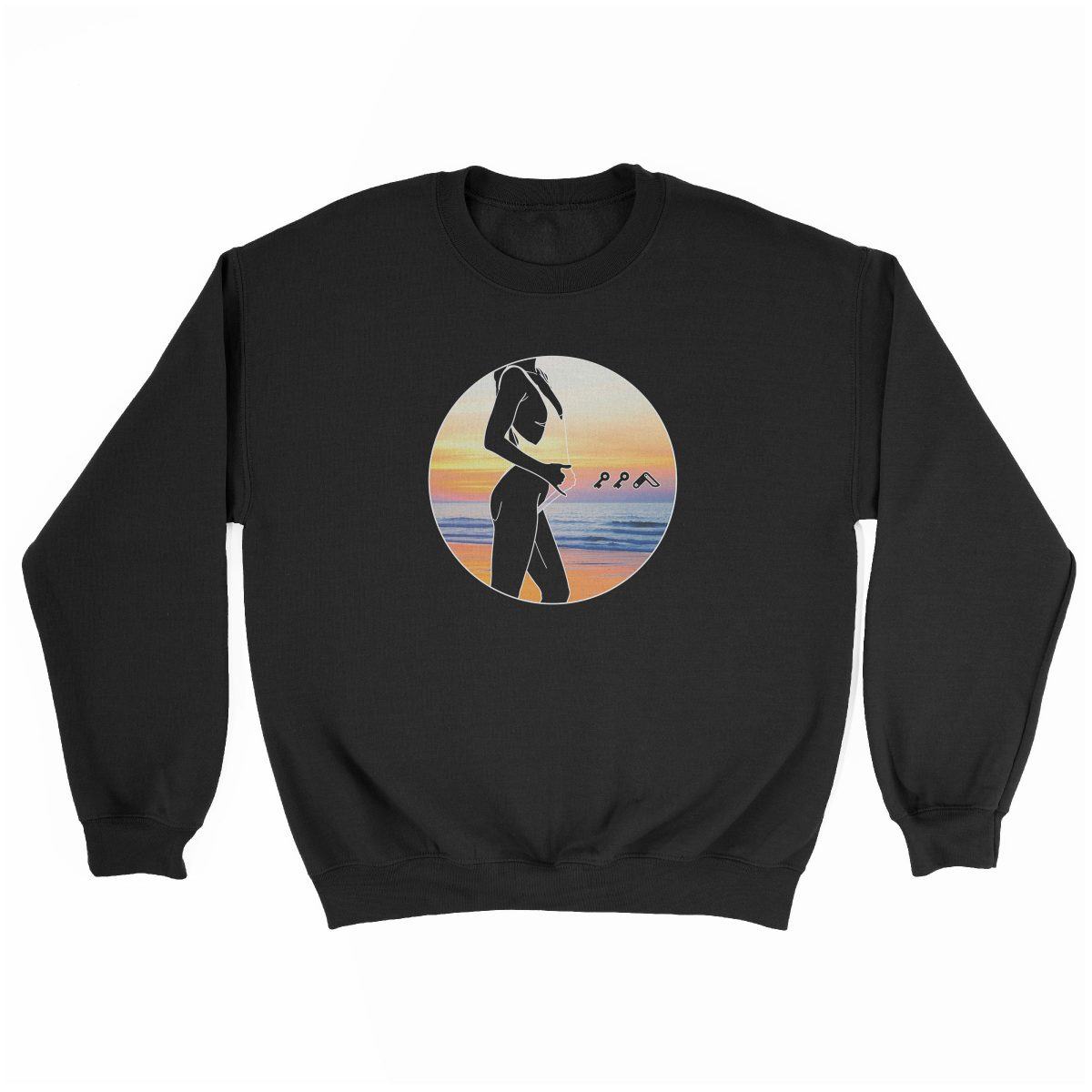"""BAE WATCH"" music festival beach sweatshirt in black"