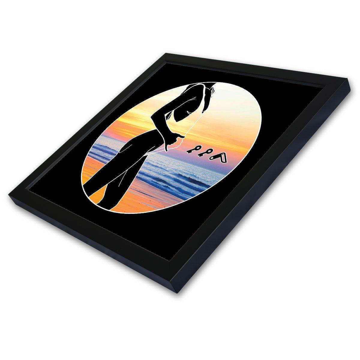 """BAE WATCH"" sexy female sunset design framed prints by kikicutt"