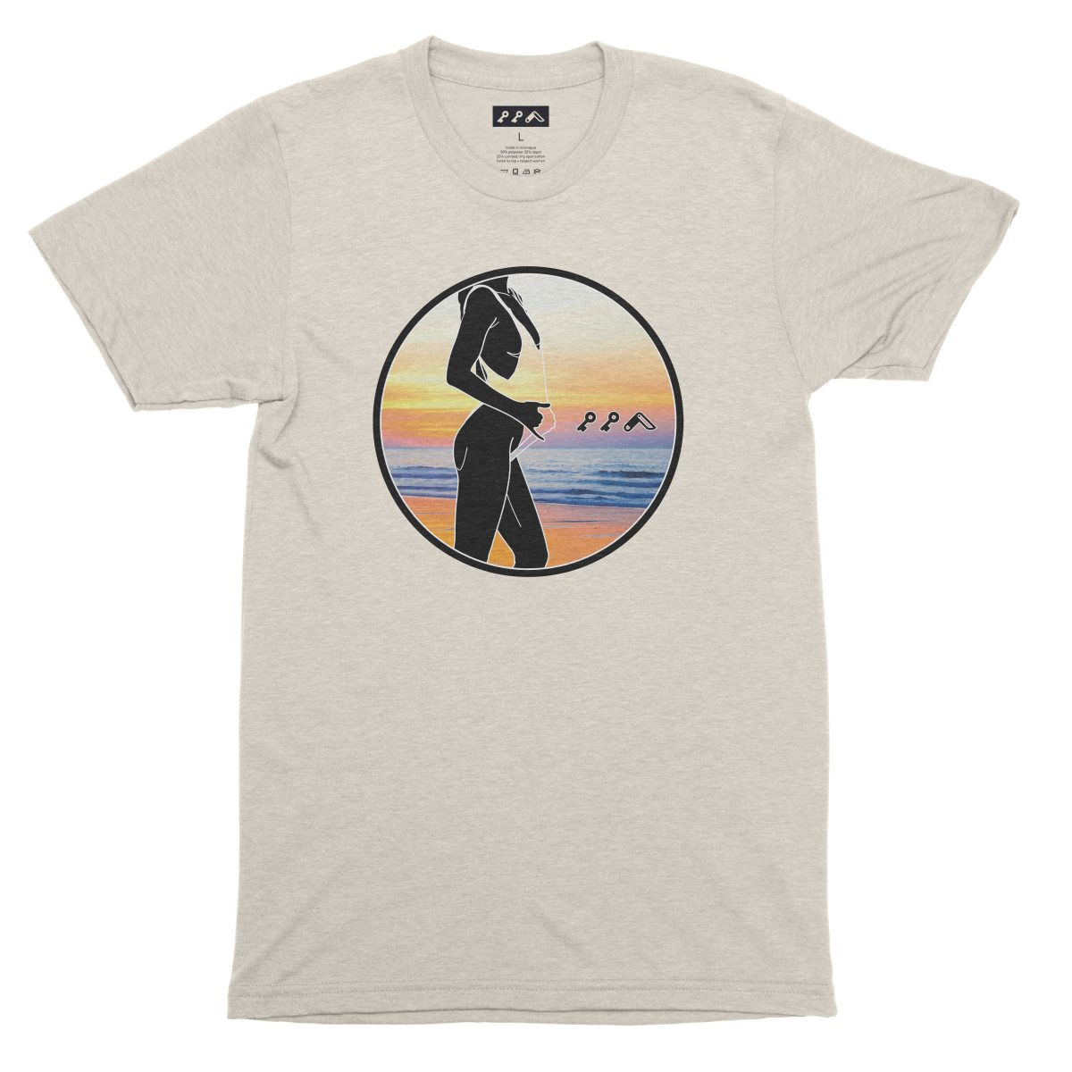 """""""BAE WATCH"""" sexy music festival graphic tee in oatmeal"""