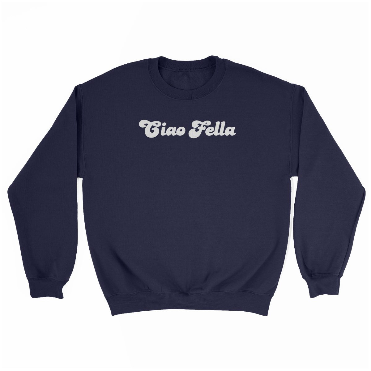 """CIAO FELLA"" funny sweatshirt in navy by kikicutt"
