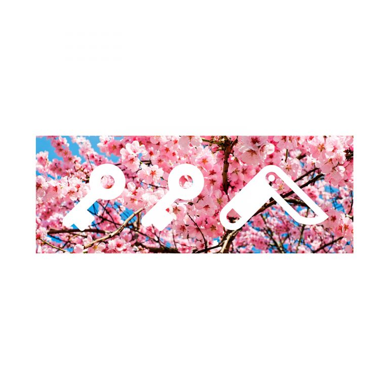 """CHERRY FLOWER bOM"" kikicutt logo japanese cherry tree design by kikicutt"