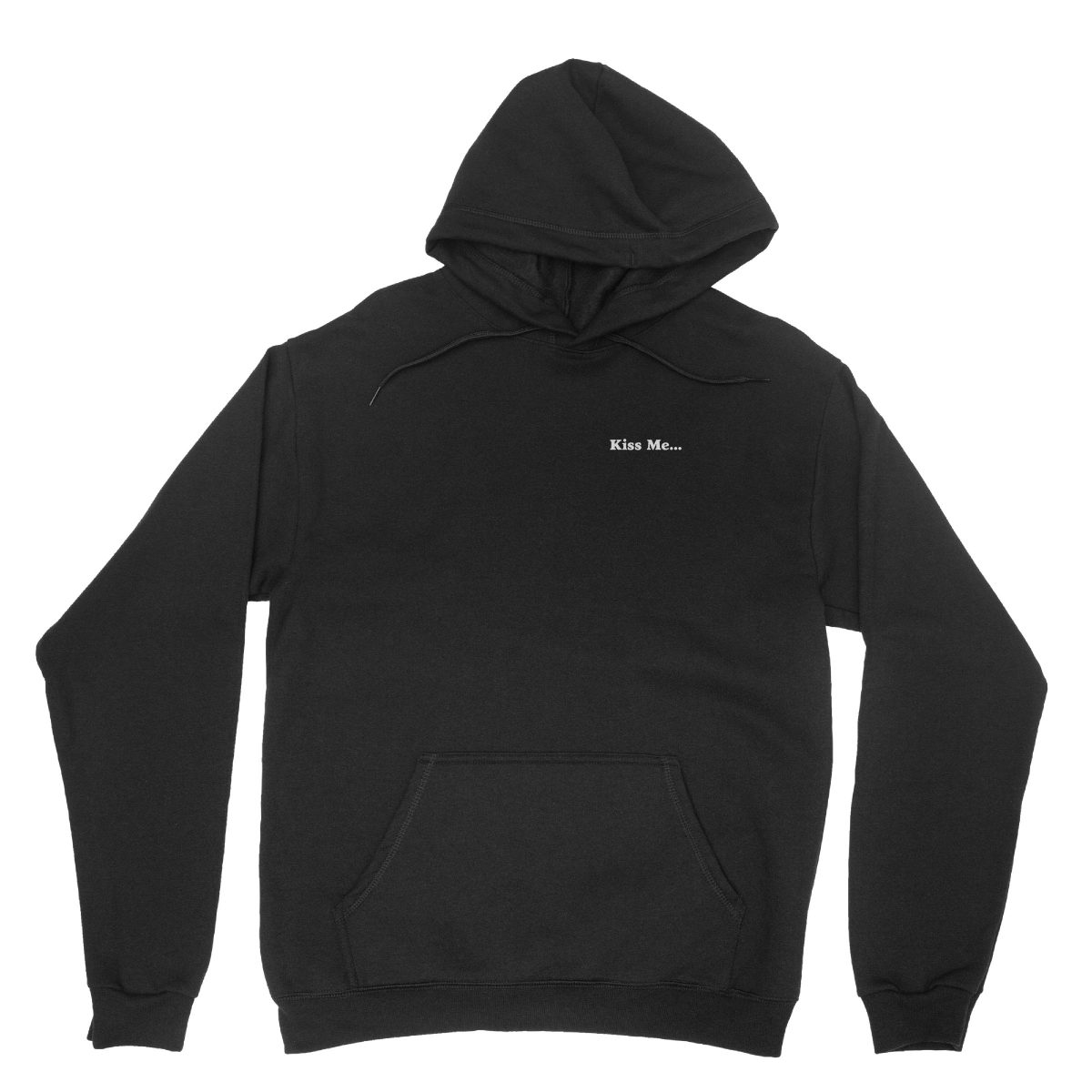 """kiss me between my legs"" hidden message hoodies in black by kikicutt"