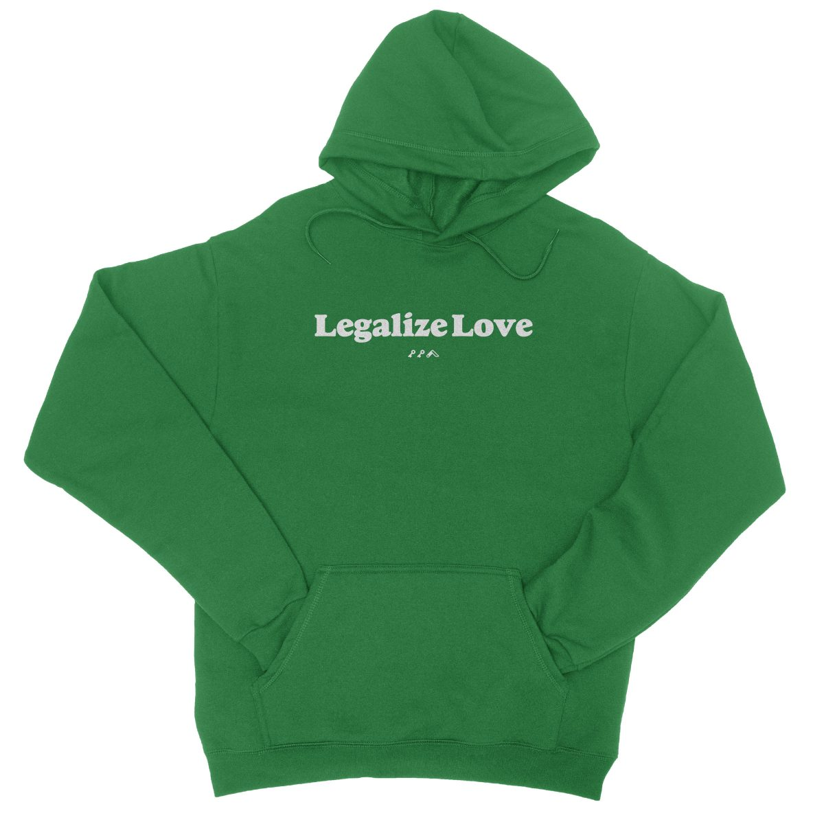 """Legalize Love"" is love womens march hoodies in green at kikicutt.com"