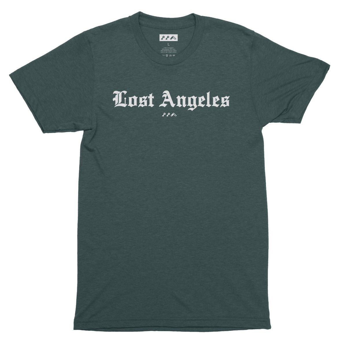 """Lost Angeles"" soft tri-blend t-shirts in emerald by KIKICUTT"