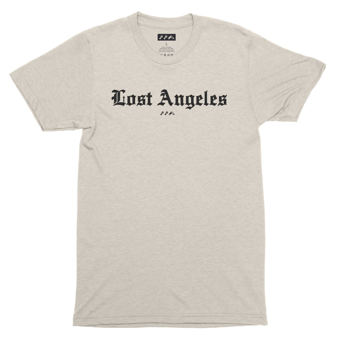 """Lost Angeles"" soft tri-blend t-shirts in oatmeal by KIKICUTT"