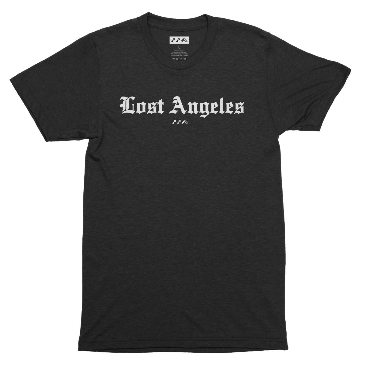 """Lost Angeles"" soft tri-blend t-shirts in solid black by KIKICUTT"