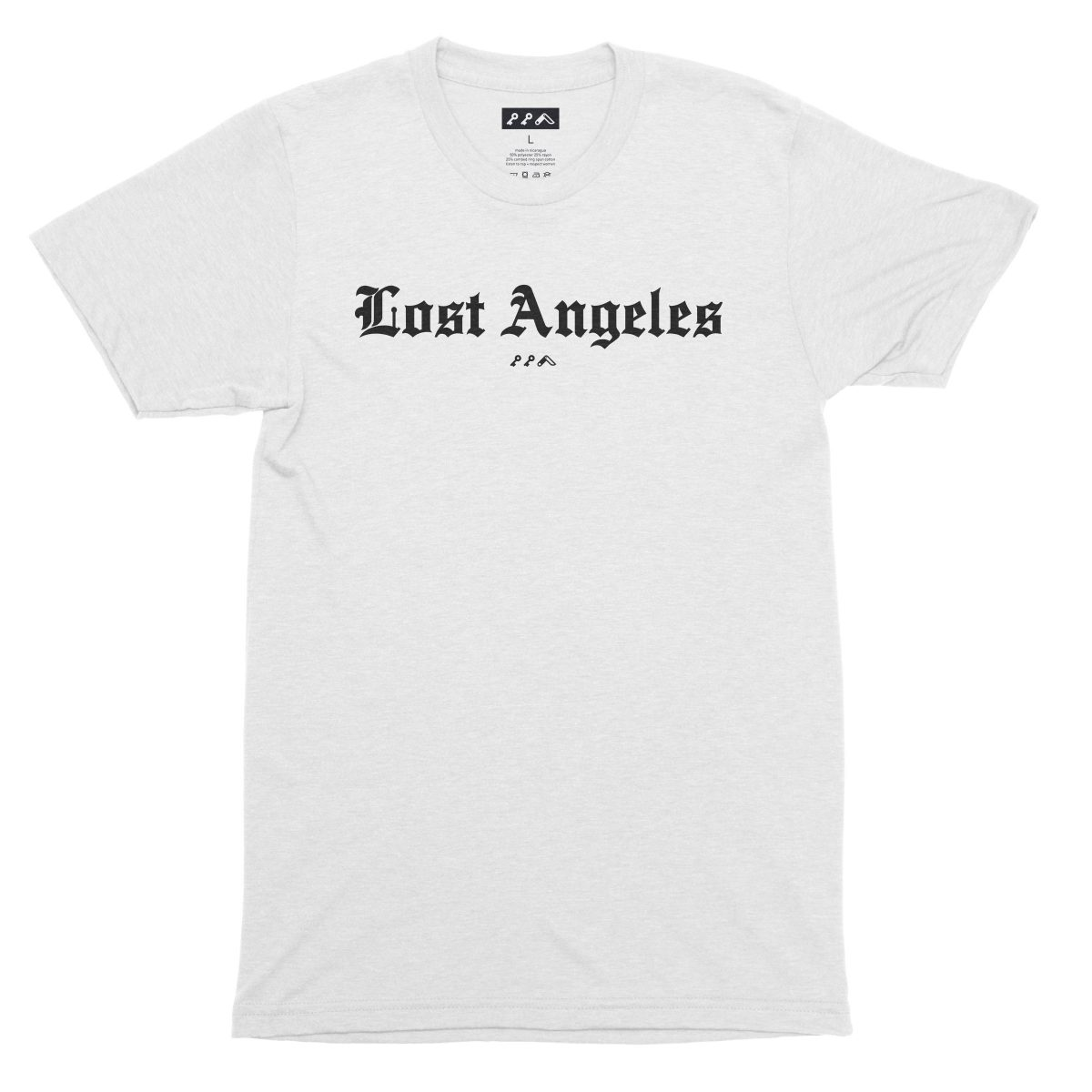"""Lost Angeles"" soft tri-blend t-shirts in white by KIKICUTT"