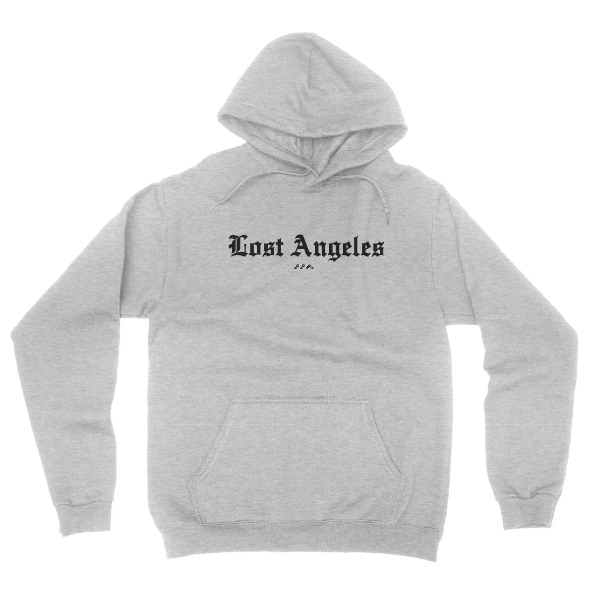 """Lost Angeles"" old english lettering soft hoodies in grey by KIKICUTT"
