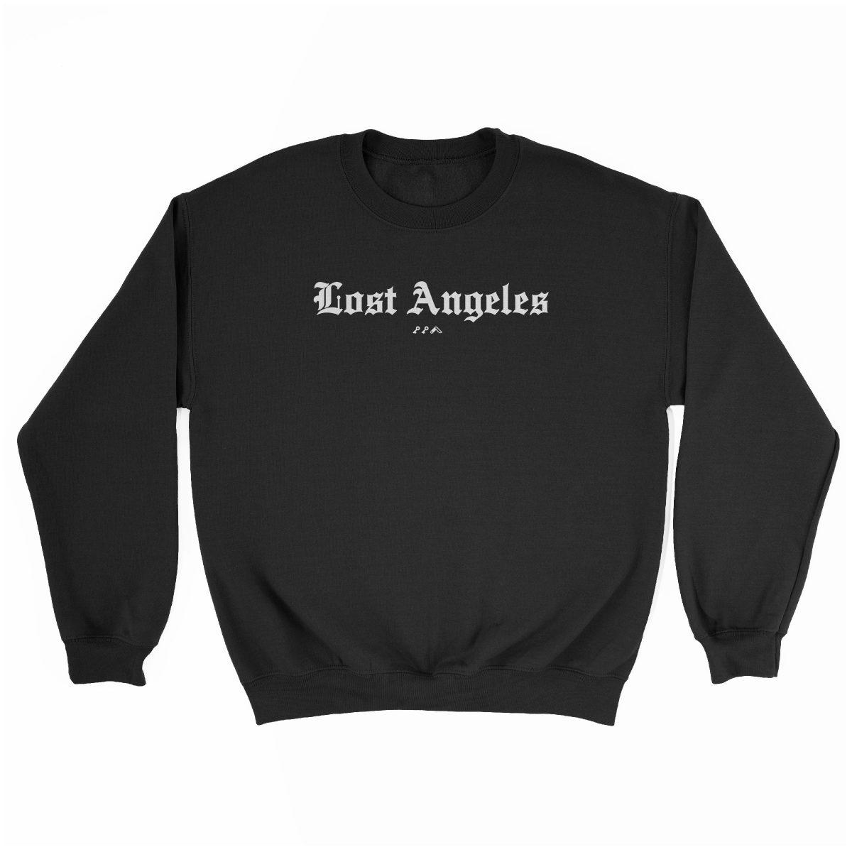 """Lost Angeles"" soft sweatshirt in black by KIKICUTT"