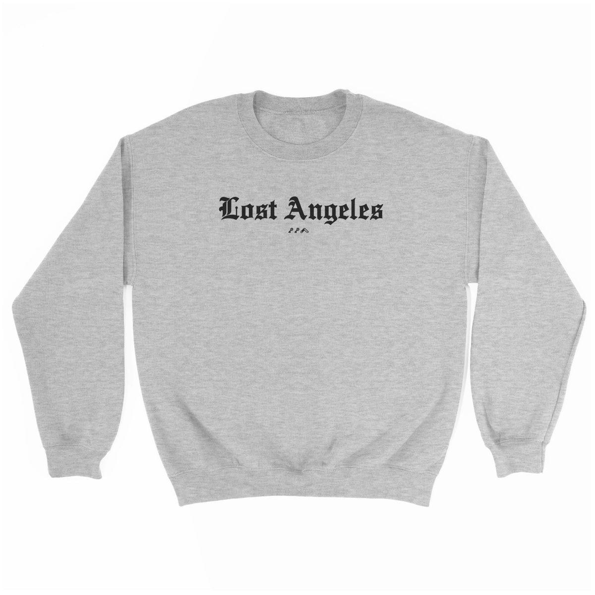 """Lost Angeles"" soft sweatshirt in grey by KIKICUTT"