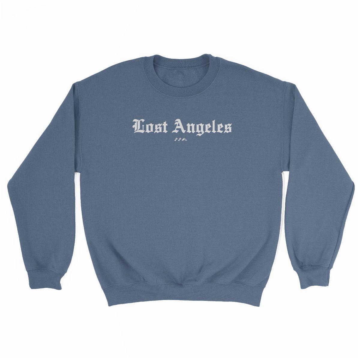 """""""Lost Angeles"""" soft sweatshirt in indigo by KIKICUTT"""