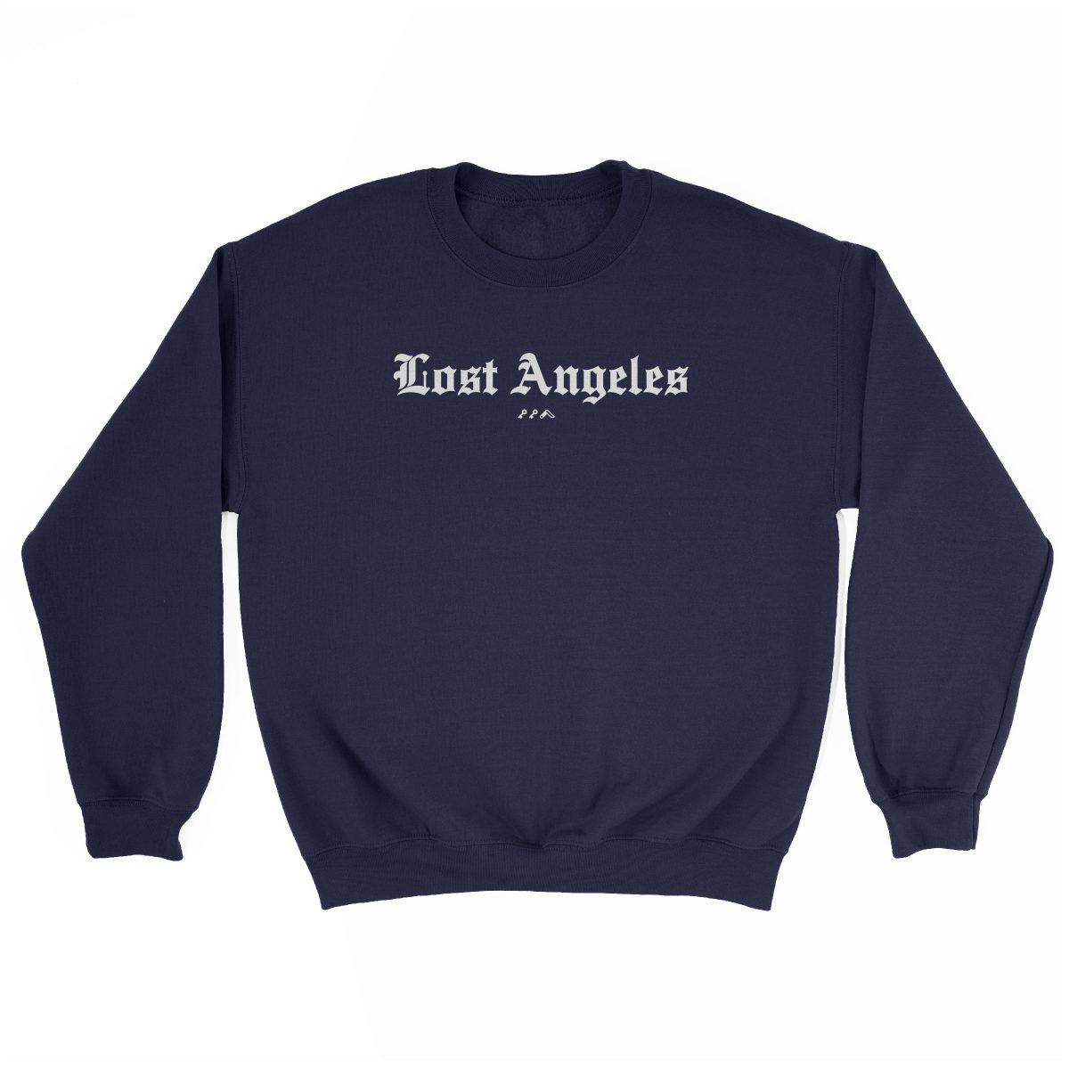 """Lost Angeles"" soft sweatshirt in navy by KIKICUTT"