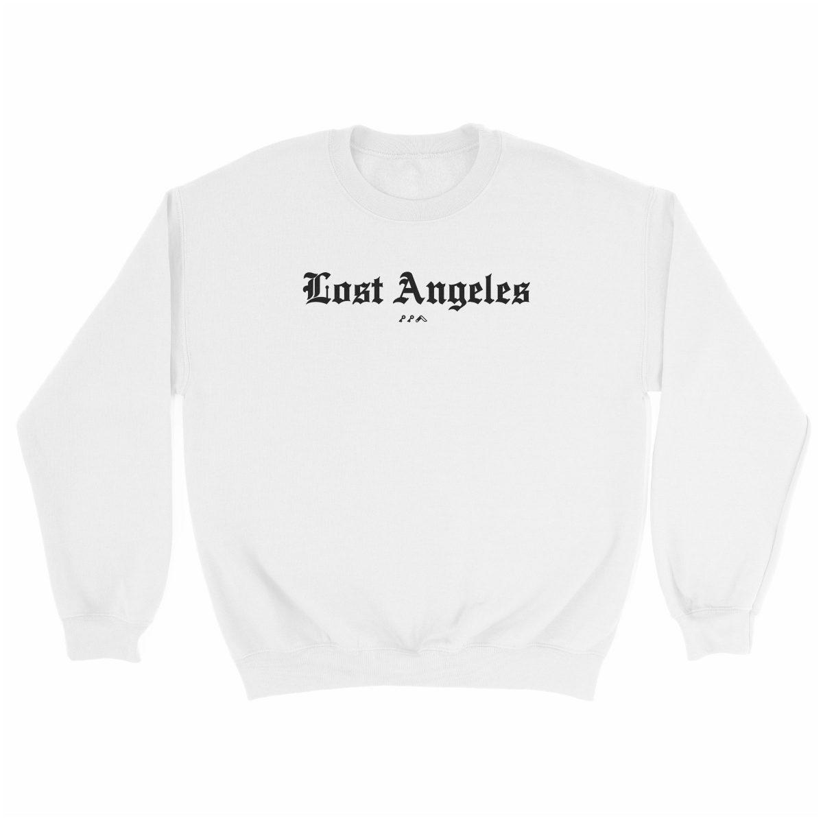 """""""Lost Angeles"""" soft sweatshirt in white by KIKICUTT"""