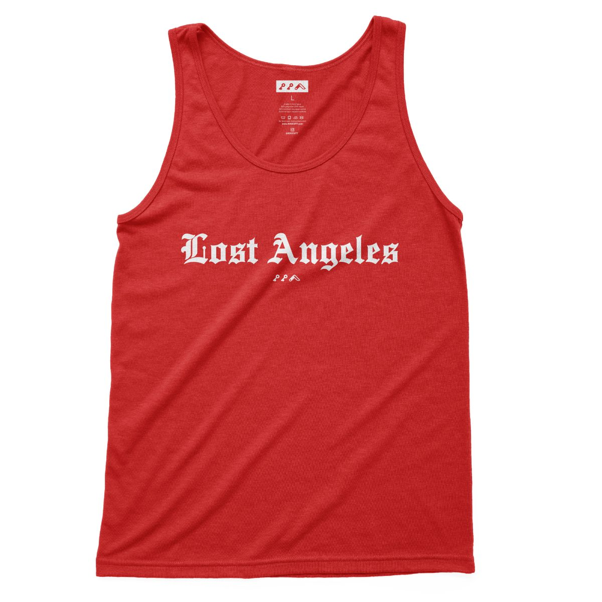 """""""Lost Angeles"""" soft tri-blend tank tops in red by KIKICUTT"""