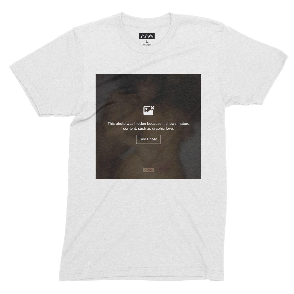 """GRAPHIC LOVE"" hidden sex image t-shirts in white by kikicutt"