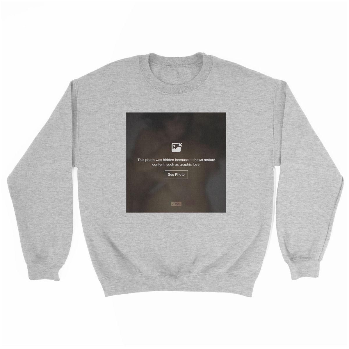 """""""GRAPHIC LOVE"""" hidden sex graphic sweatshirt in grey by kikicutt"""