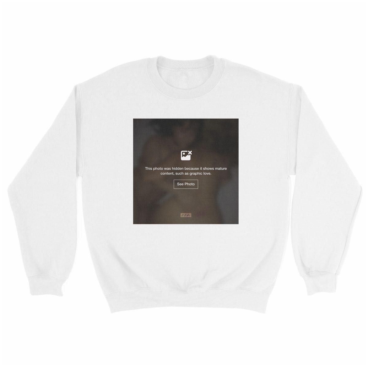 """""""GRAPHIC LOVE"""" hidden sex graphic sweatshirt in white by kikicutt"""