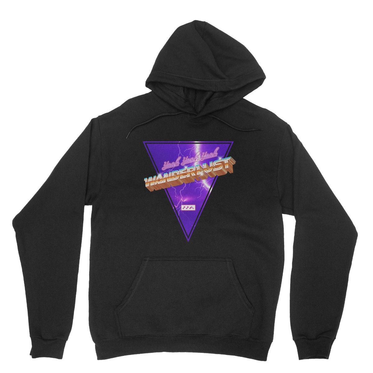 """""""WANDERLUST"""" music festival artist hoodie in black"""
