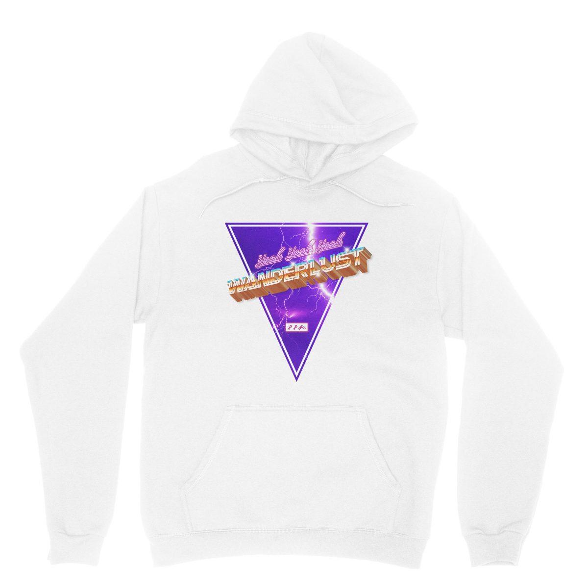 """WANDERLUST"" music festival artist hoodie in white"