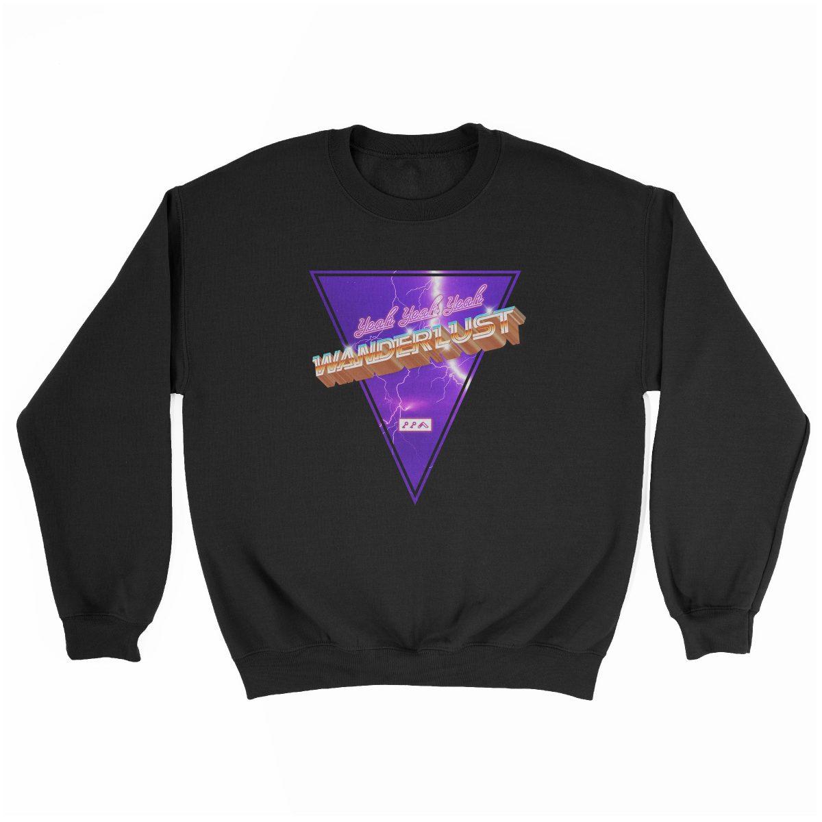 """(yeah yeah yeah) """"WANDERLUST"""" music festival artist sweatshirt in black"""