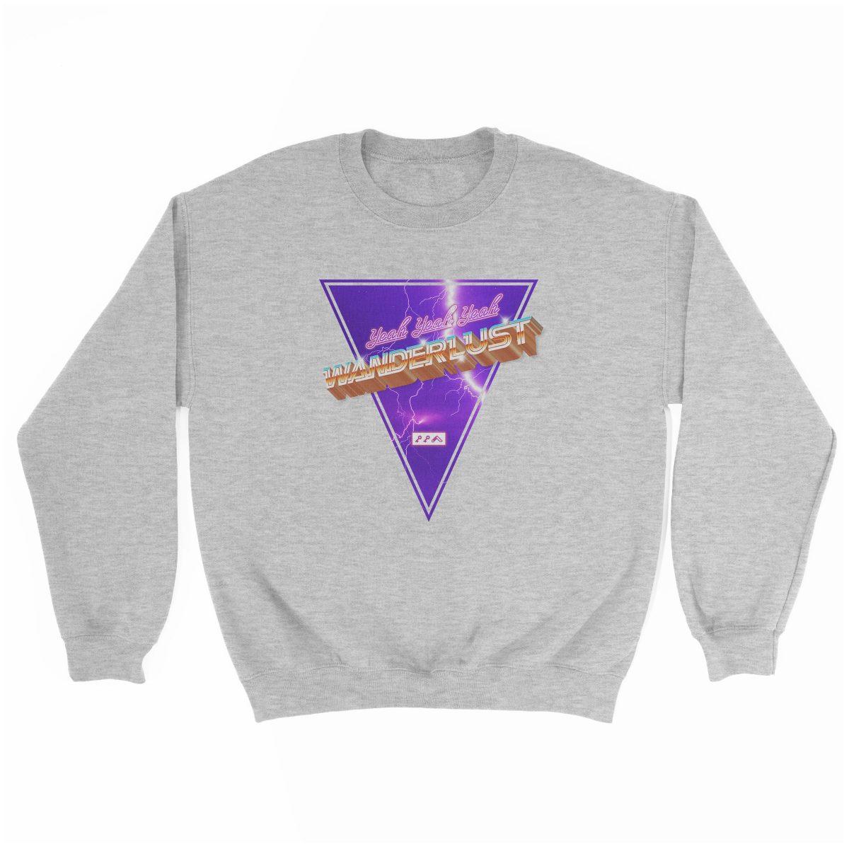 """(yeah yeah yeah) """"WANDERLUST"""" music festival artist sweatshirt in grey"""