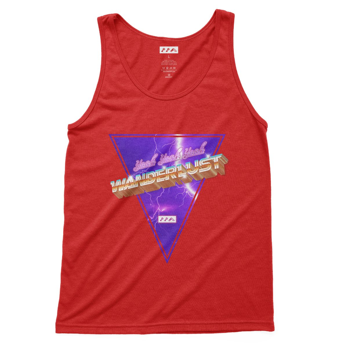 """WANDERLUST"" music festival band tank top in red by kikicutt"