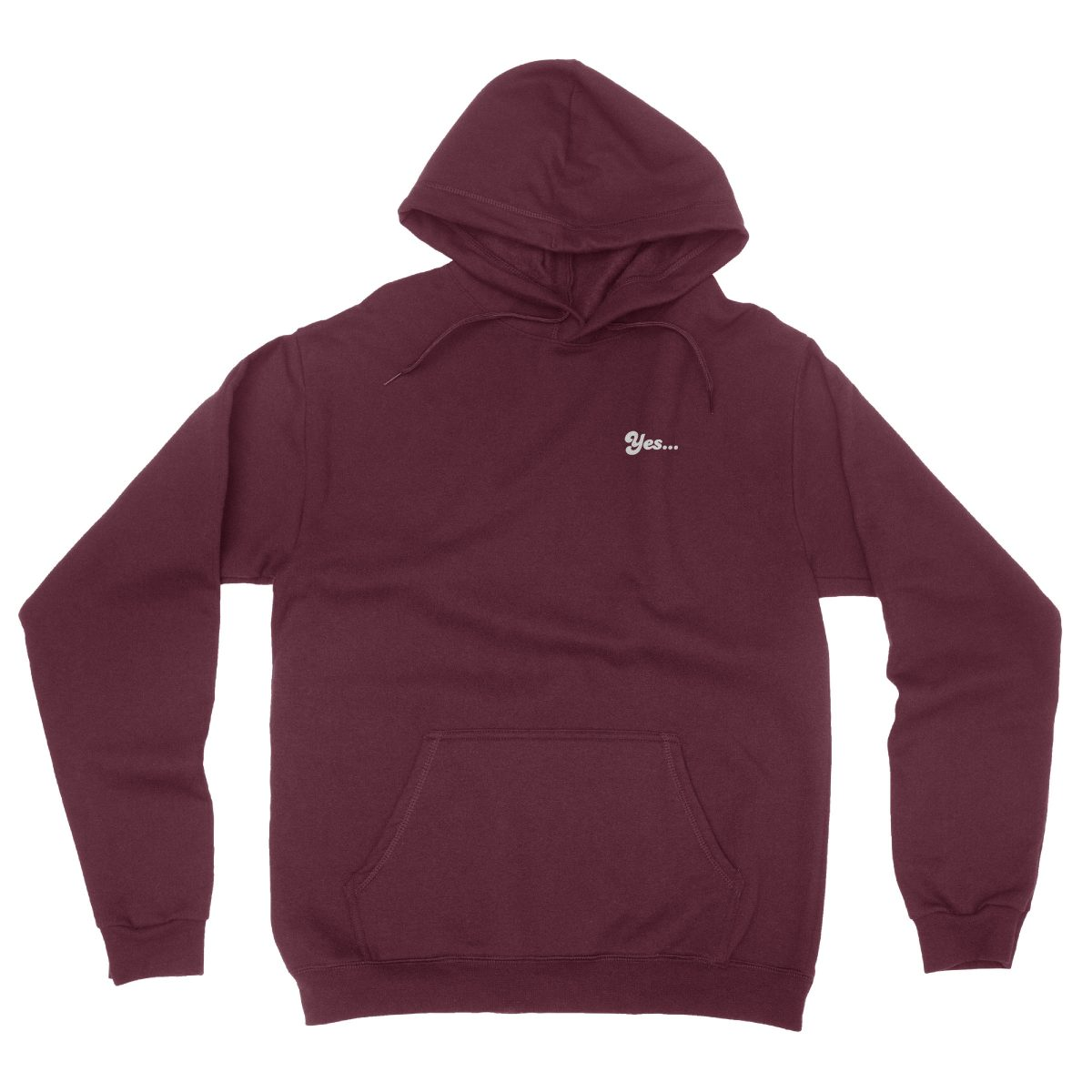 """YES DADDY"" hidden message hoodies in maroon by kikicutt"