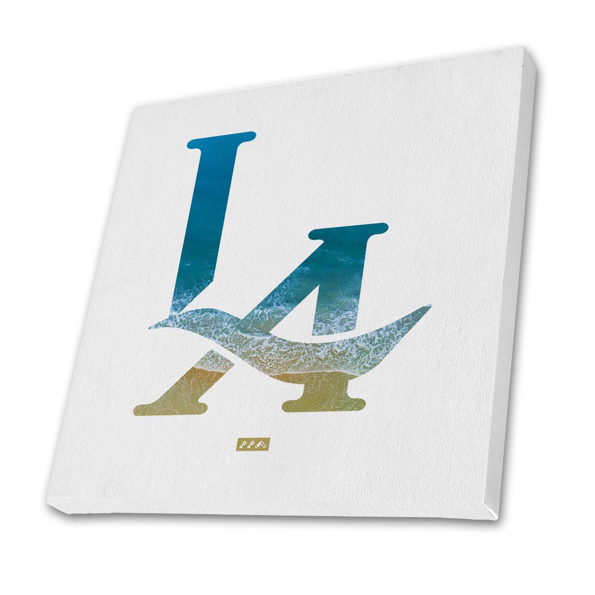 """L.A. ya beach"" LA logo los angeles beach canvas prints"